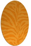 rug #268321 | oval light-orange popular rug