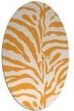 rug #268325 | oval white stripes rug