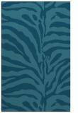 rug #268377 |  blue-green animal rug