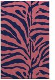 rug #268421 |  blue-violet animal rug