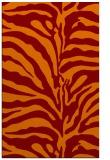 rug #268517 |  red-orange stripes rug