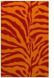 rug #268573 |  orange animal rug