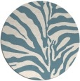 rug #268705 | round blue-green stripes rug