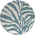 rug #268705 | round white animal rug