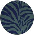 rug #268713   round blue animal rug