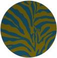 rug #268741 | round blue-green animal rug