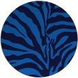 rug #268849 | round blue animal rug