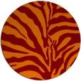 rug #268869   round red-orange animal rug
