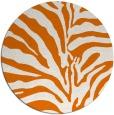 rug #268873 | round orange stripes rug