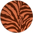 rug #268881 | round orange stripes rug