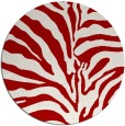 rug #268921 | round red stripes rug