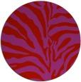 rug #268933 | round red animal rug