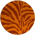 rug #268937   round red-orange animal rug