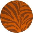 rug #268945 | round red-orange stripes rug