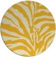 rug #268969 | round yellow animal rug