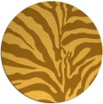 rug #268985 | round light-orange animal rug