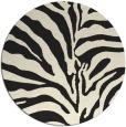 rug #268989 | round black stripes rug