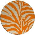 rug #268997 | round beige stripes rug