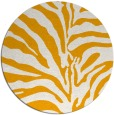 rug #269017 | round light-orange animal rug