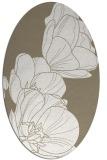 rug #269737   oval beige natural rug