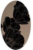 rug #269749 | oval beige natural rug