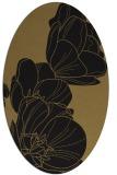 rug #269757 | oval black natural rug