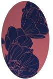 rug #269829 | oval pink graphic rug