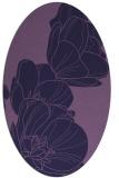 rug #269833 | oval blue-violet graphic rug