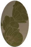 rug #269857 | oval brown graphic rug