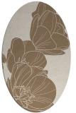 rug #269889   oval beige natural rug