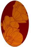 rug #269925 | oval orange rug