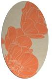 rug #269933 | oval beige graphic rug