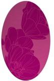 rug #269945   oval pink graphic rug