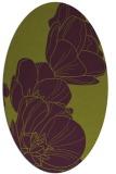 rug #269965 | oval purple graphic rug