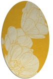 rug #270025 | oval yellow rug