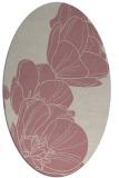 rug #270077 | oval pink natural rug
