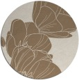 rug #270593 | round mid-brown natural rug