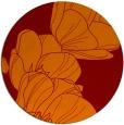 rug #270629 | round red-orange natural rug