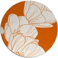 rug #270709 | round red-orange natural rug