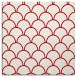 rug #271385 | square red retro rug