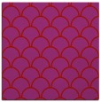 rug #271397 | square red retro rug
