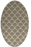 rug #271497 | oval white traditional rug