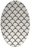 rug #271501 | oval black traditional rug