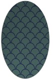 rug #271529 | oval blue retro rug
