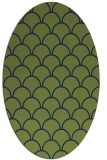 rug #271533 | oval green traditional rug