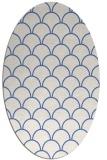 rug #271537 | oval blue retro rug