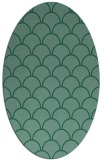 rug #271553 | oval blue-green rug