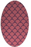 rug #271589 | oval pink retro rug