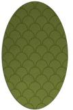 rug #271621 | oval green traditional rug
