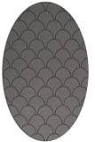 rug #271645 | oval mid-brown retro rug